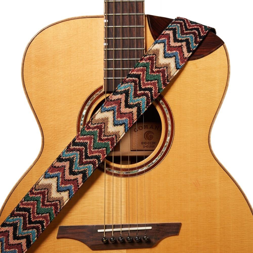 amumu pure cotton woven guitar straps with leather end 90 160cm length 5cm width for folk. Black Bedroom Furniture Sets. Home Design Ideas
