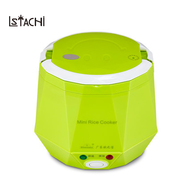 LSTACHi Electric Rice Cooker 12V 24V 220V for Car/Truck/Home Multi-function 3 Cups Mini Lunch Box Food Heater Steamer For 1-2 LSTACHi Electric Rice Cooker 12V 24V 220V for Car/Truck/Home Multi-function 3 Cups Mini Lunch Box Food Heater Steamer For 1-2