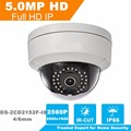 2017 HiK English Version 5MP CCTV Camera DS-2CD2152F-IS Full HD PoE Dome Camera with Audio Replace DS-2CD2155F-IS