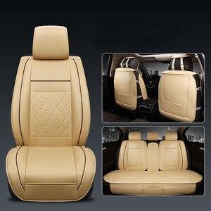 Image 1 - Cubierta Universal de 5 asientos para asiento de coche Protector de cojín delantero y trasero de cuero PU para la mayoría de los asientos del coche