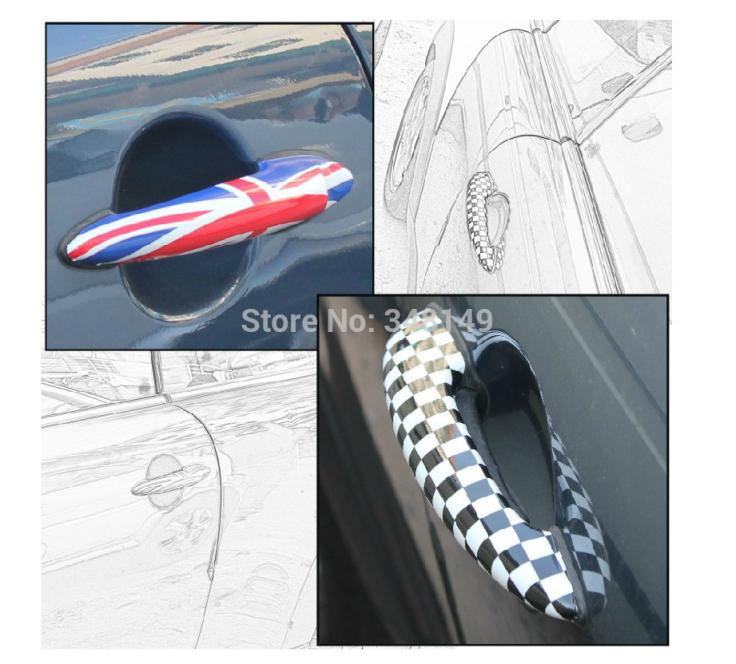 Aliauto 2 x Car-styling Car դռան բռնակով կպչուն պիտույքներ և զարդարում պարագաներ BMW MINI COOPER- ի համար