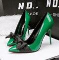 Nuevas Mujeres Del Resorte Zapatos de Tacones Altos Dulce Proa Apuntando Shallow Tacones Delgados de tacón alto Zapatos de Charol de tacón de Aguja Sexy G762-2