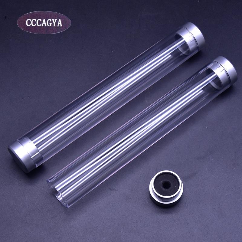 CCCAGYA E001 ทรงกระบอกอะคริลิ 10 ชิ้นกรณีดินสอขนาด 15 เซนติเมตร * 2.2 เซนติเมตรเขียนสำนักงานโรงเรียนเครื่องเขียนกล่องปากกา, เครื่องประดับกล่องของขวัญ