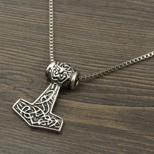 Dropshipping 1 Pc Vintage Viking Nordic Mythology Pirate Necklace Men Amulet Ancient Silver Necklaces Pendants Punk Jewelry
