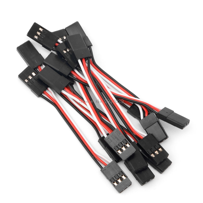 10pcs 5cm Male to Male Quadcopter Extension Lead Servo Futaba JR Wire Cable -B116 300mm 30cm jr male to male plug 26awg 100pcs lot rc servos extension lead wire cable for futaba cables wiring free shipping