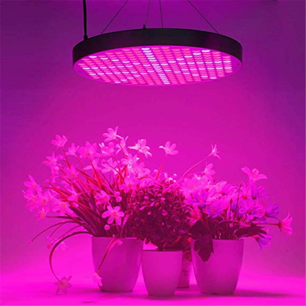 Us 30 7 41 Off 50w Led Plant Grow Lights Ufo 250 Leds Indoor Plants Growing Lamp With Red Blue Spectrum Hydroponics Growth Light For Seedling In