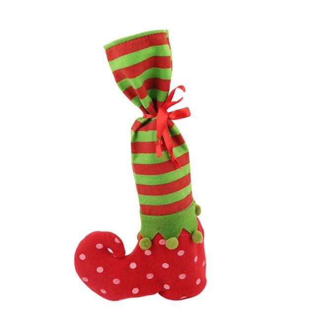 Decorazioni di natale Calze Elfi Sacchetti di Caramelle Sacchetti Regalo di  Natale Stivali Pagliaccio Di Natale 371f85d8598a