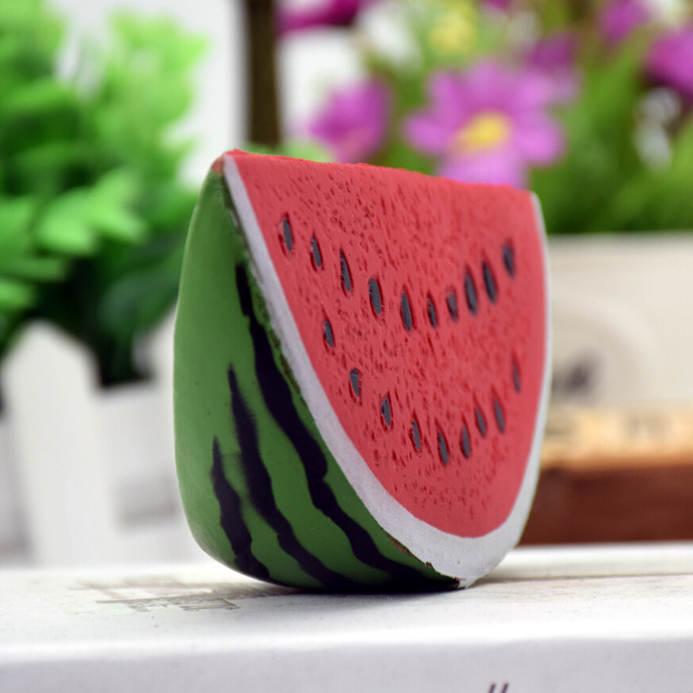 Mobile Phone Accessories Able Kawaii Anti-stress Squishy Watermelon Mobile Phone Strapes Super Slow Rising Squeeze Stretch Bread Cake Kid Toy Gifts