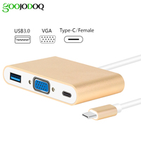 USB C To VGA Hub GOOJODOQ 3 In 1 Type C To VGA USB 3 0