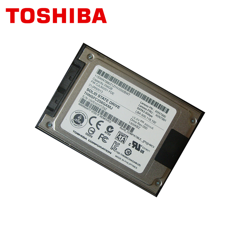 """Image 2 - TOSHIBA Micro SATA 256GB Solid State Drive Disk SSD 1.8"""" 256G for X300 X301 T400S T410S T410SI 2530P 2540P 2730P 2740P Xt2-in Internal Solid State Drives from Computer & Office"""