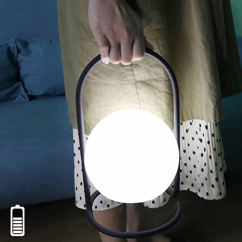 Nowoczesny skandynawski Ball lampy stołowe pilot usb akumulatorowa lampa led biurko lampa do salonu sypialnia lampy na stolik nocny