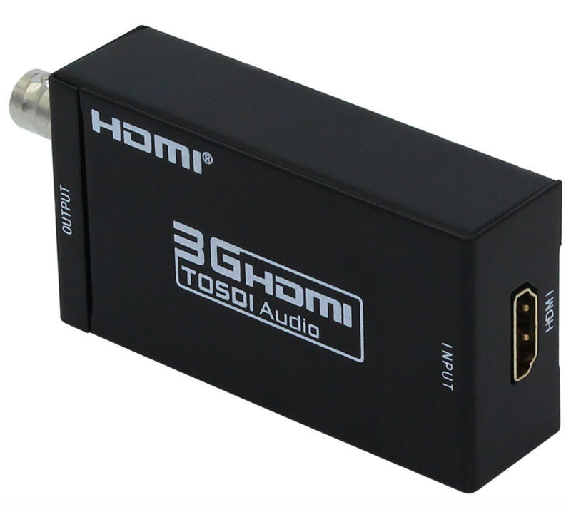 2 PCS Mini 3G 1080P HDMI to SDI SD-SDI HD-SDI 3G-SDI HD Video Converter with Power Adapter in Retail Package Drop Shipped mini 3g 1080p hdmi to sdi sd sdi hd sdi 3g sdi hd video converter with power adapter in retail package free shipping