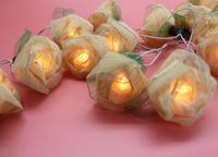 ดอกกุหลาบร้อนw Hite LEDสตริงแสงLuminariaคริสต์มาสงานแต่งงานตกแต่ง110โวลต์/220โวลต์สหภาพยุโรป/US/สหราชอาณา...