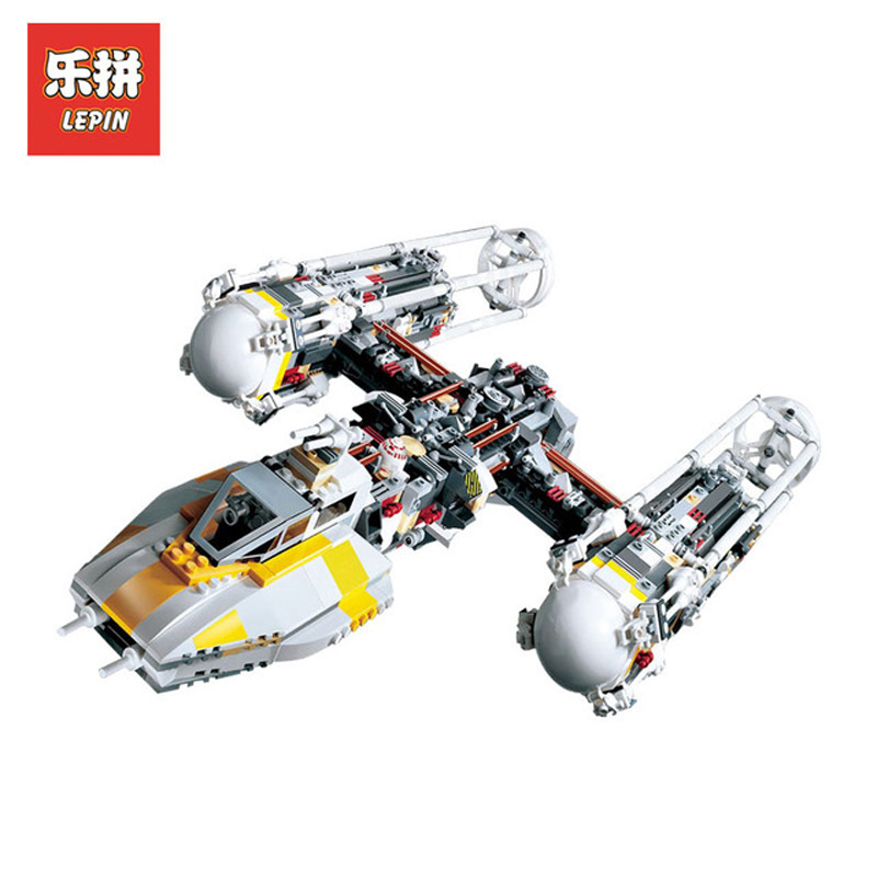 In Stock Lepin Sets 05040 1473Pcs Star Wars Figures Y-Wing Attack Starfighter Model Building Kits Blocks Bricks Kids Toys 10134 lepin 05040 y attack starfighter wing building block assembled brick star series war toys compatible with 10134 educational gift