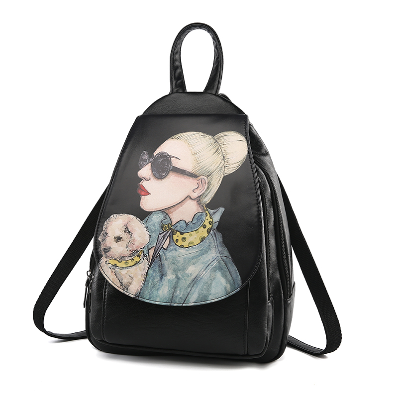 new 2017 free shipping Casual Purse Fashion School Leather Backpack Shoulder Bag Mini Backpack for Women