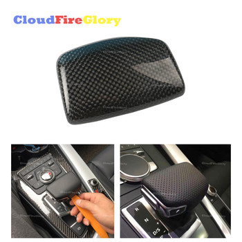 CloudFireGlory For Audi A4 /S4 Q7 2016-2017 New Carbon Fiber Perforated Shift Knob Cover LHD 4M1713139F