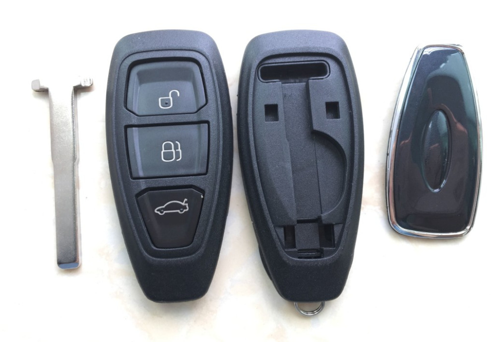 Replacement 3 Button case Remote key shell Case fit for Ford Fiesta Focus Mondeo C-Max B-Max S-Max Galaxy Kuga auto parts