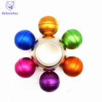 Rainbow Fidget Spinner Finger Spinner Hand Spinner Aluminum Alloy Spiner Comes With Metal Box Anti Relieve