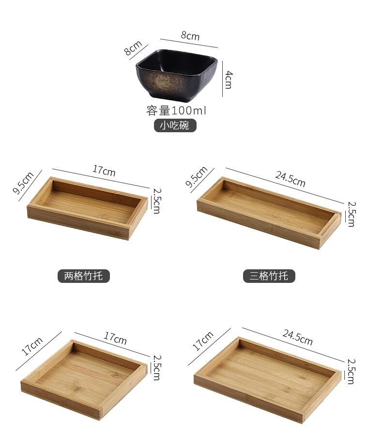 Креативная керамическая сетки Фруктовая тарелка для закуски пластины сервировочное блюдо японская маленькая тарелка с подносом домашних настольных высушенный плодоовощ закуска лоток-5
