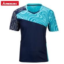 5813db5b1f Genuine Kawasaki Homens Camisas Esportivas Badminton Camisetas Cor  Brilhante ST-T1019 Curta-mangas compridas