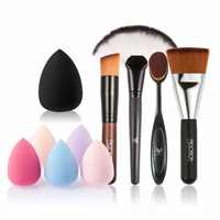 Beauty 5 PCS Paguma Makeup Brush Set Foundation Soft Fiber Wool Cosmetic Brush High Quality Women