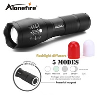 Alonefire G700 M CREE XM L T6 3800LM Zoomable LED Flashlight LED Signal Light Emergency Hunt