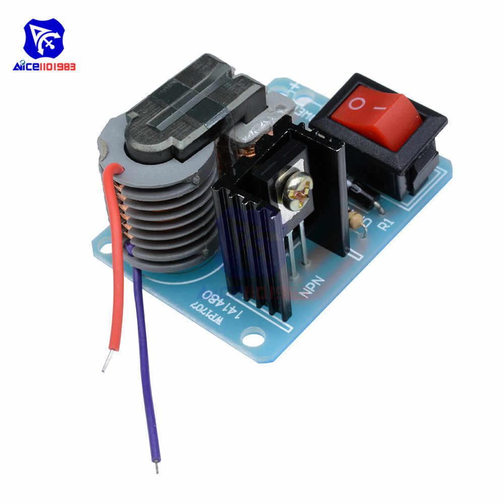 عالية التردد 15KV محول تيار مستمر الجهد العالي قوس الإشعال عاكس المولد Boost لتقوم بها بنفسك عدة الإلكترونية لوحة دارات مطبوعة وحدة
