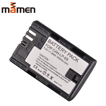 лучшая цена Mamen LP E6 LP-E6 LPE6 Digital Camera Battery For Canon EOS 5D Mark 2 Mark 3 6D 7D SV 60D  Replacement  Lithium Battery Pack