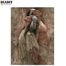 """DIADIY Full Square/Round Drill 5D DIY Diamond Painting""""Indian couple """"3D Embroidery Cross Stitch 5D Home Decor Art gift Stickers"""
