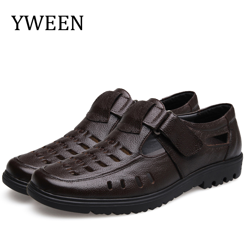 YWEEN Wholesale Mens Sandals Quality Leather Sandals Men Outdoor Casual Shoes Men Leather Sandals For Men Beach Shoes
