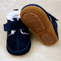 New Hard Rubber sole winter baby boys shoes with fur boots Genuine Leather Baby Moccasins Newborn Bebe Infant toddler Shoes