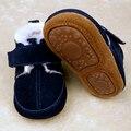 Novo Disco De Borracha sole bebés meninos sapatos de inverno com botas de pele de Couro Genuíno Mocassins Bebê Recém-nascido Bebe Sapatos da criança Infantis