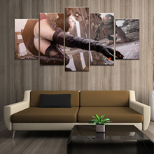 Home Decor Poster HD Pictures Prints Canvas 5 Piece Modular NieR Automata Sexy 2B GAME Living Room Decorative Painting Framed home decor living room 5 piece 2b back black shadow painting canvas hd print game nier automata poster wall art modular picture