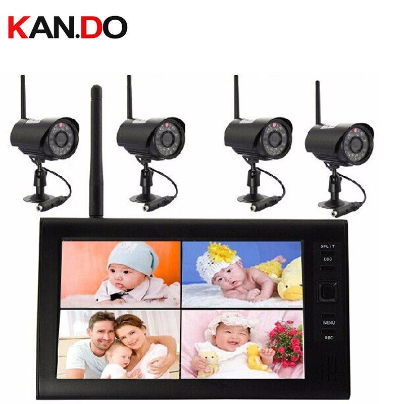4 Водонепроницаемая камера s 7,0 Беспроводная Радионяня 2,4G Nightvison видеоняня няня 2,4G беспроводной монитор камеры CCTV