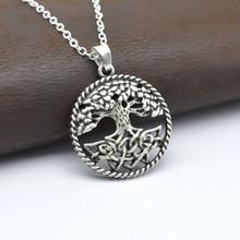 1 шт. 28 мм Ожерелье Yggdrasil замок в небе кельтское Древо жизни кулон ожерелье натуральный дух ювелирные изделия модный подарок CT156