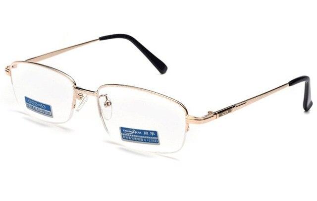 = = VIDA CLARA Inteligencia Multifocal Progresiva Gafas de Lectura Bifocales mitad-borde de Oro Los Hombres de Lujo Ultra Light + 1 + 1.5 + 2 A + 4