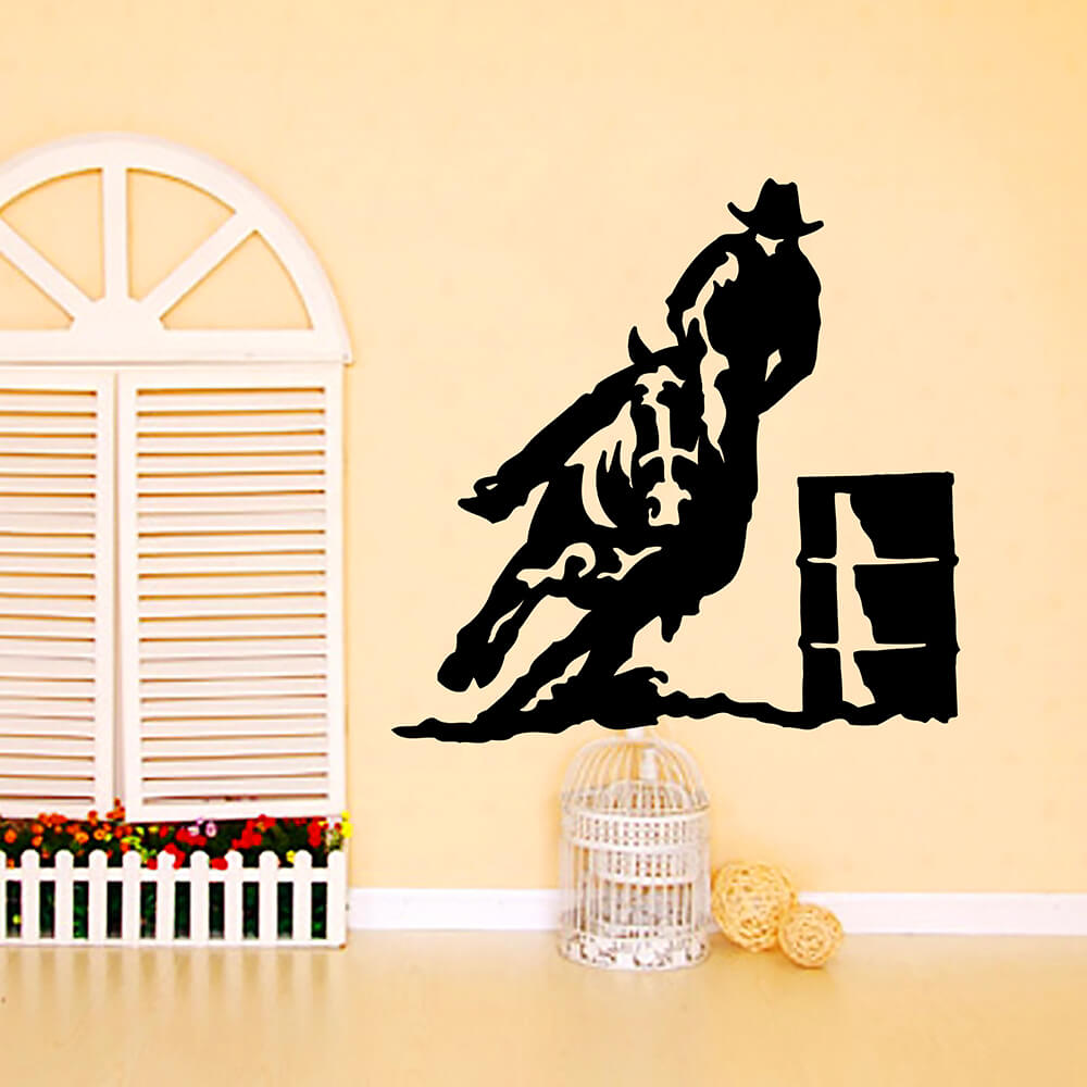 ZUCZUG 55*55CM Toilet Cat Wall Stickers Cowboy Mustang 3D Removable ...