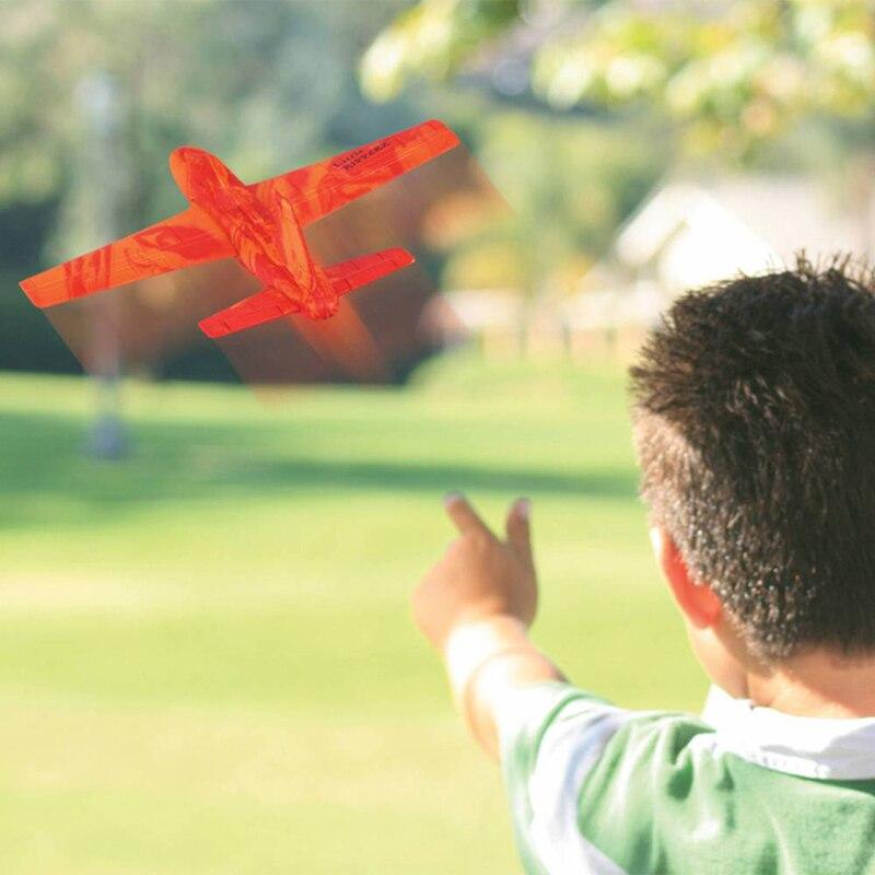 Открытый Спорт бросая игрушки сборка модели истребитель eva планер ребенка игрушки
