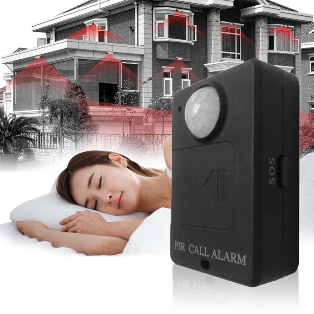 Mini capteur d'alerte PIR sans fil infrarouge GSM alarme moniteur détecteur de mouvement détection maison système antivol avec adaptateur prise ue