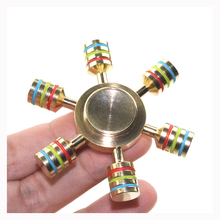 Rainbow Fidget Spinner Finger Spinner Hand Spinner Brass Metal For Autism Adult Anti Relieve Stress Toy