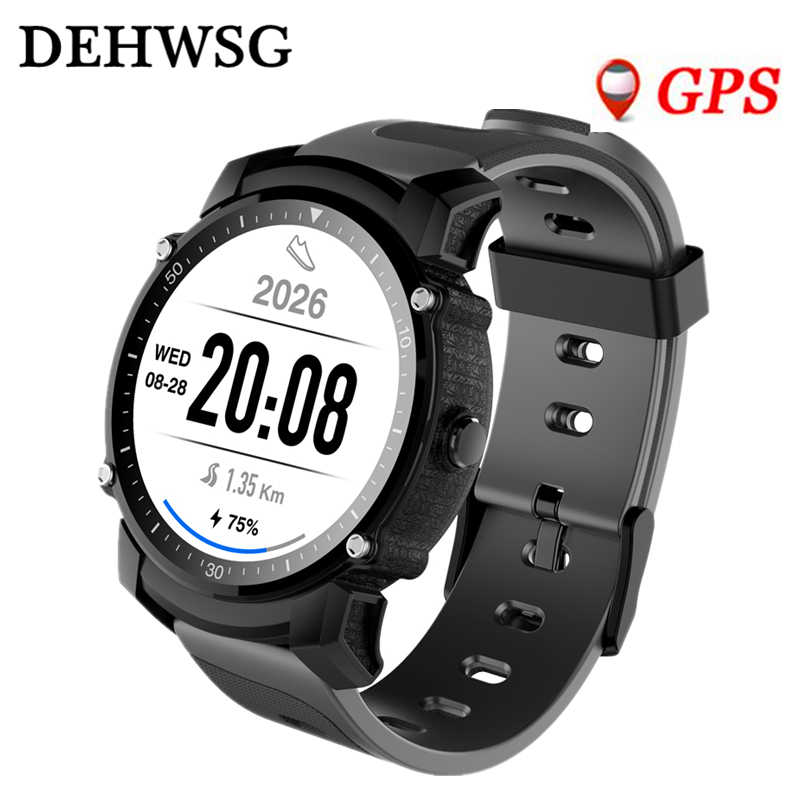 GPS Smart watch men FS08 IP68 Waterproof Multi-sport mode Heart Rate Monitor with Stopwatch Compass wristwatch For IOS Android