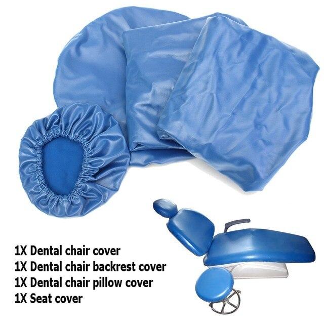 4 unids/set Dental PU Unidad de cuero silla Dental funda de asiento funda de silla elástica impermeable funda protectora Protector 2018 nuevo