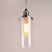 Vintage pendant lights Chrome Painted light holder clear glass pendant lamps used Edison bulb for Home Deco