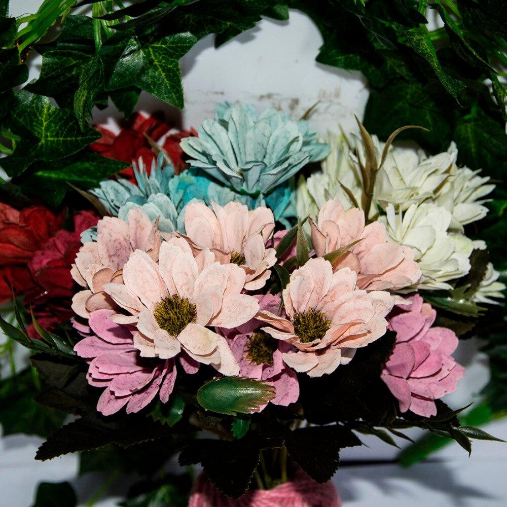 Big Sale 6 Branches 10 Head Floral Artificial Flower Bouquet Silk