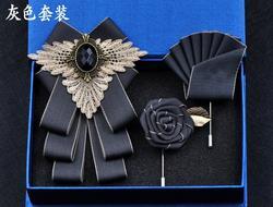 Новинка Бесплатная доставка Модный мужской женский ручной работы Британский женский комплект из 3 шт. галстук-бабочка деловой корейский