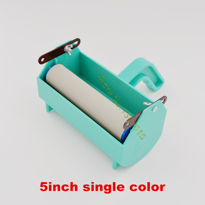 Fix for 5inch rubber pattern <font><b>roller</b></font>, wall decoration painting tools, liquid wallpaper <font><b>paint</b></font> handle grip with single color tank image