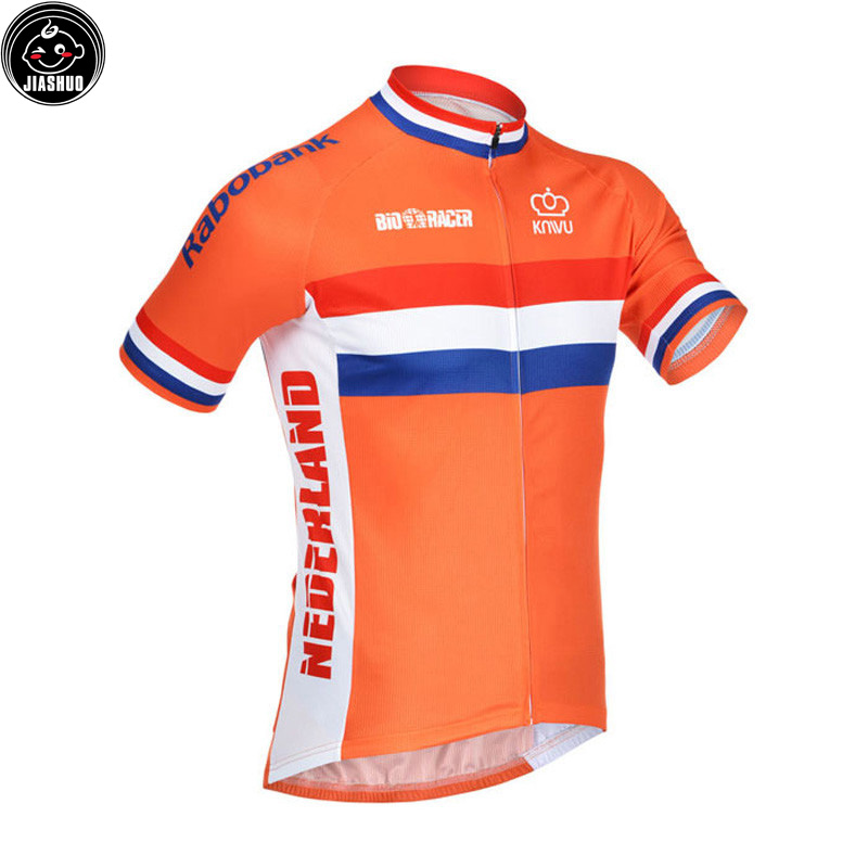info for d9d55 fa4b2 US $19.99 |Classical NEW 2017 Netherlands orange pro Bike Team Cycling  Jersey Breathable Customized Jiashuo-in Cycling Jerseys from Sports & ...