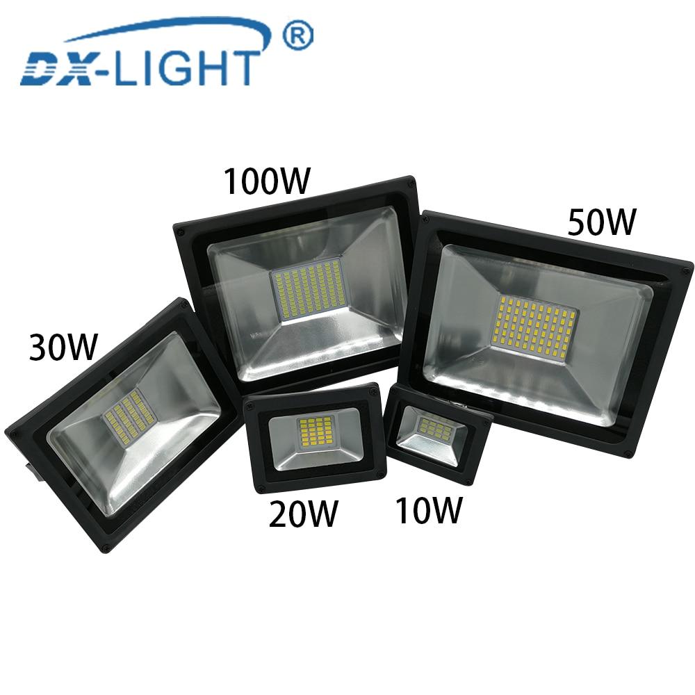 220V 230V 240V LED Flood Light 10W 20W 30W 50W 100W Floodlights Lamp Waterproof IP65 Reflector Led Exterior Outdoor Spotlight