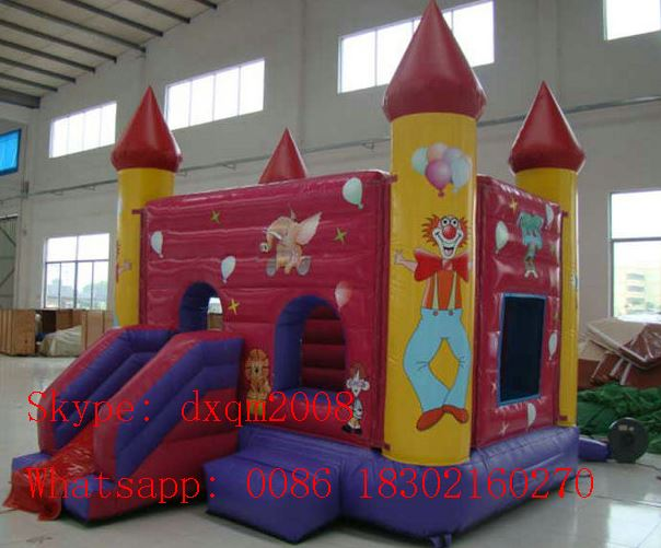 pvc commercial grade colorful jumping castle bounce house with slide combo for sale - Bounce House For Sale