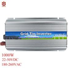 MAYLAR 1000 Вт 22-50VDC для 90-260VAC инвертор с чистым синусом сетки галстук инвертора микро-инвертор для Vmp30V/36 V солнечных панелей, обувь по заводским ценам
